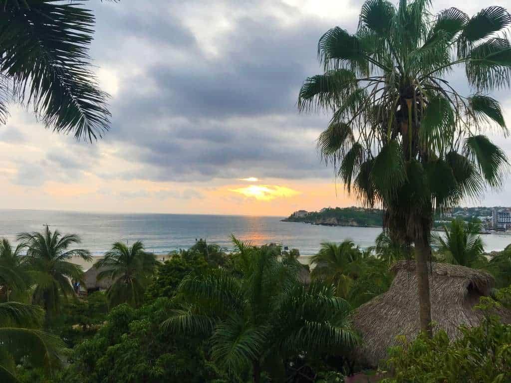 Sunset at Puerto Escondido.