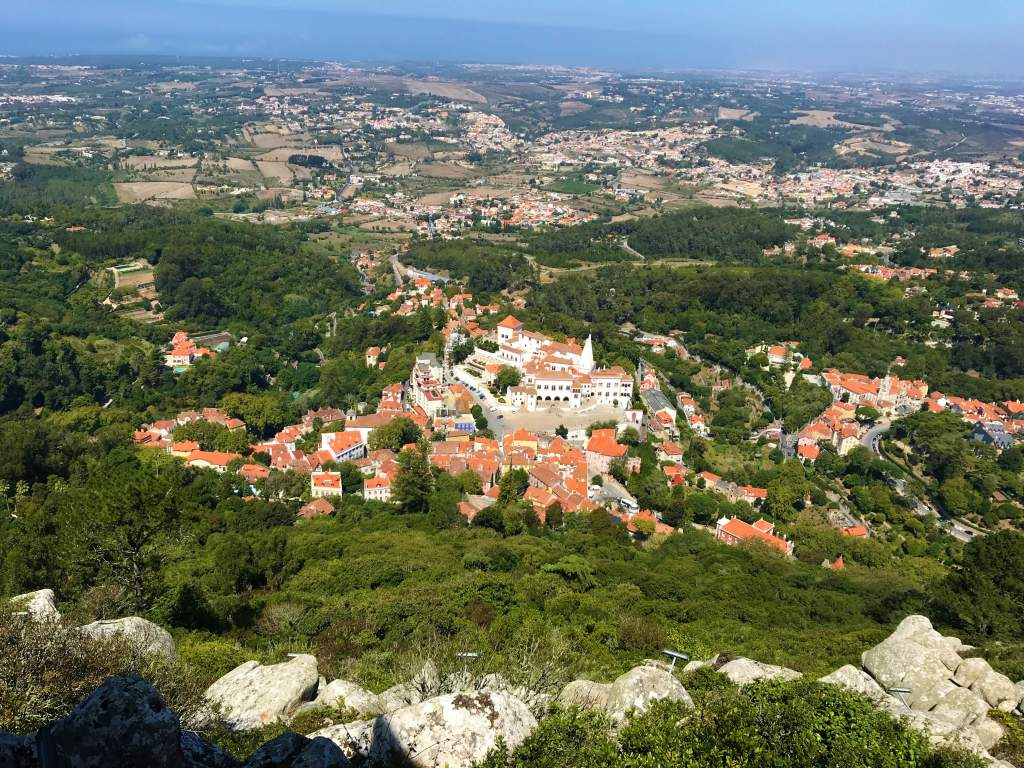 A view of Sintra from the Moorish Castle.