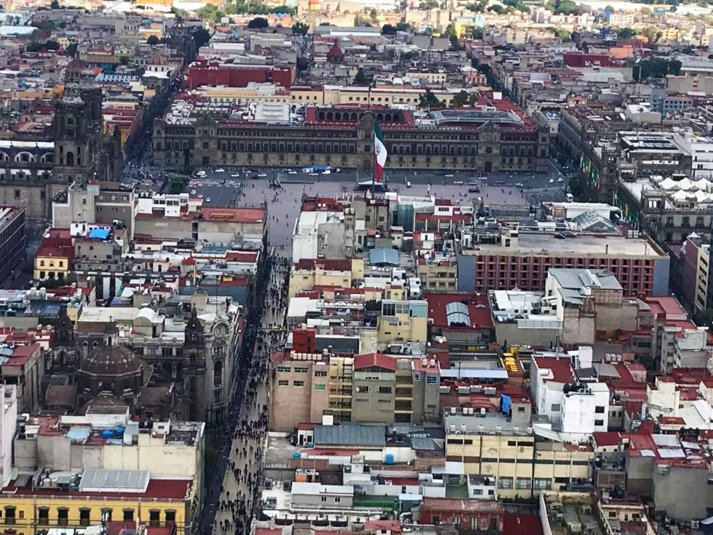 A view of the zócalo from Torre Latinoamericana.