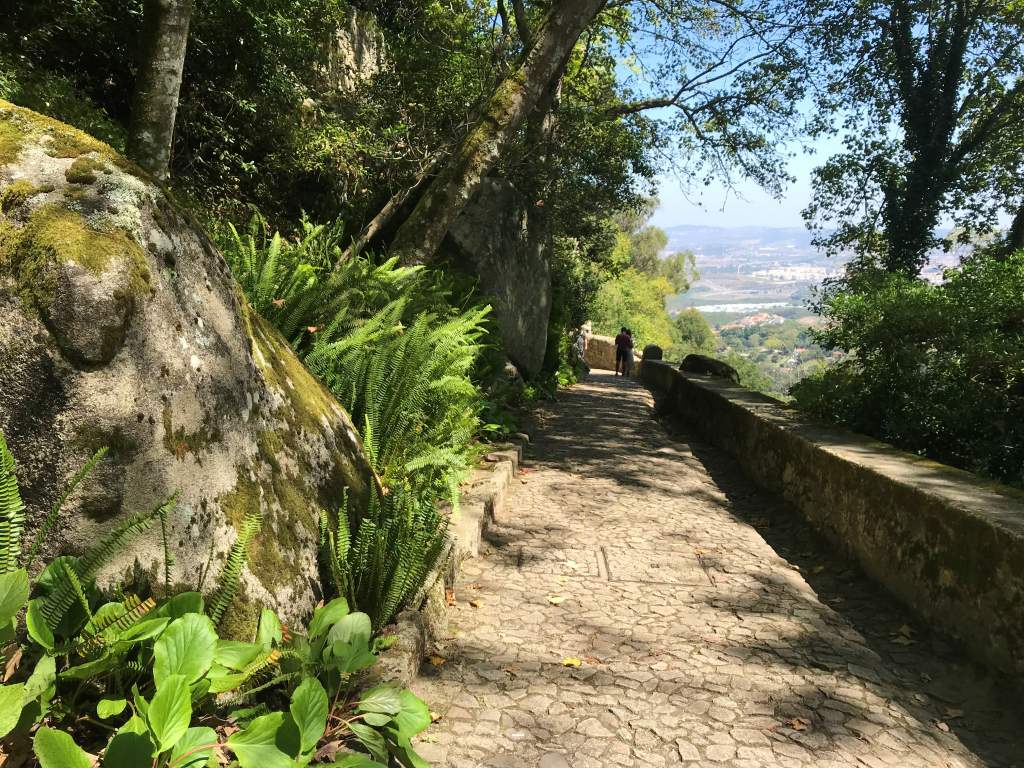 The wheelchair accessible path leading up to the Moorish Castle.