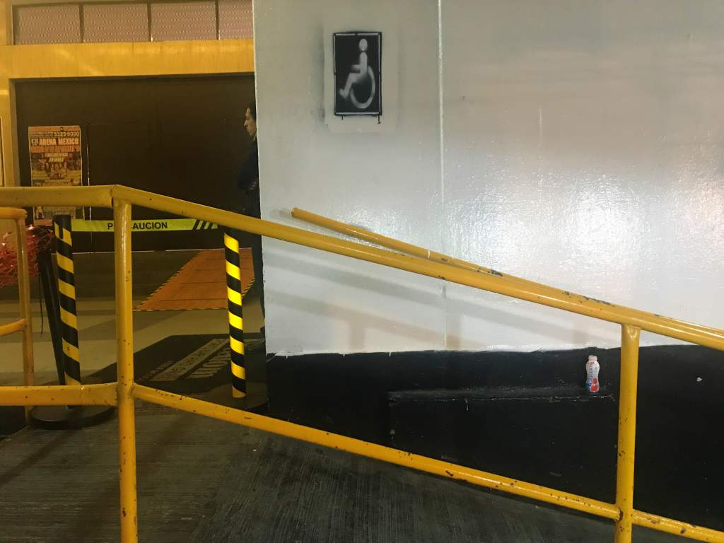 The accessible ramp leading into the lucha libre venue.