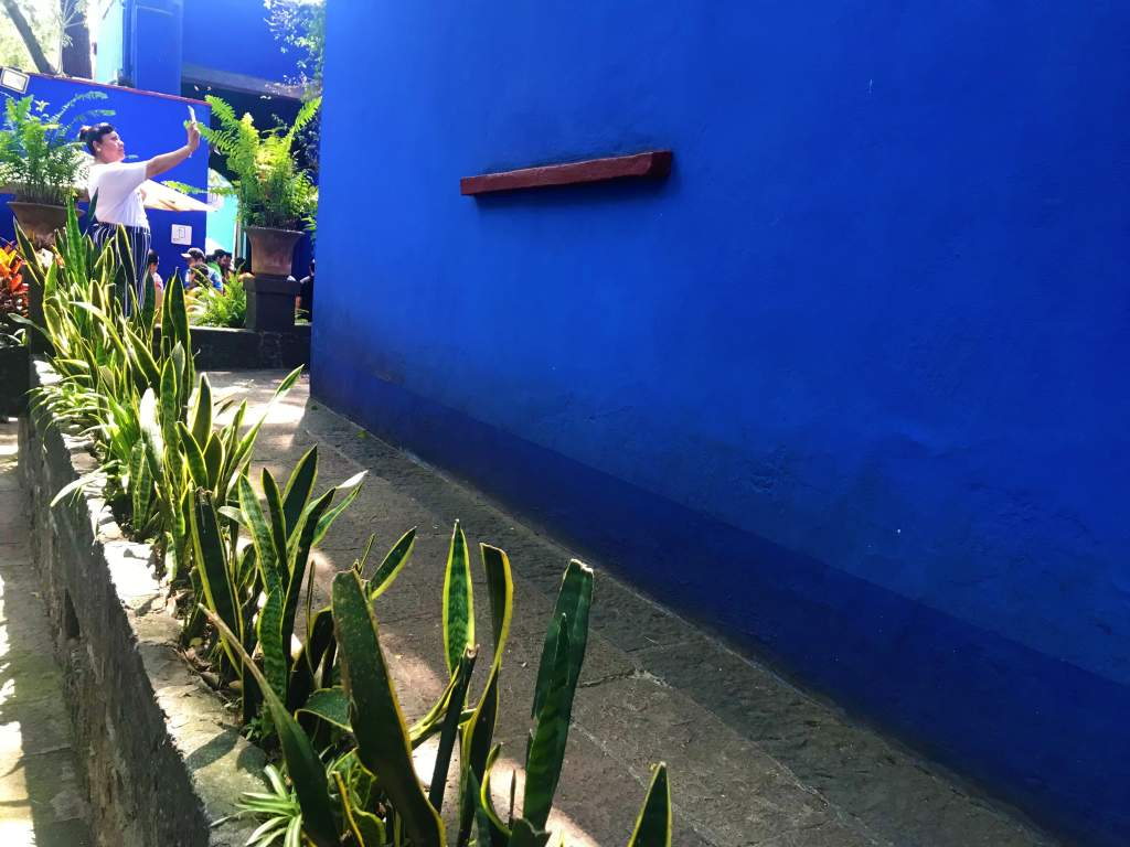 The wheelchair accessible ramp at the Frida Kahlo Museum, Mexico City, leading to the second floor.