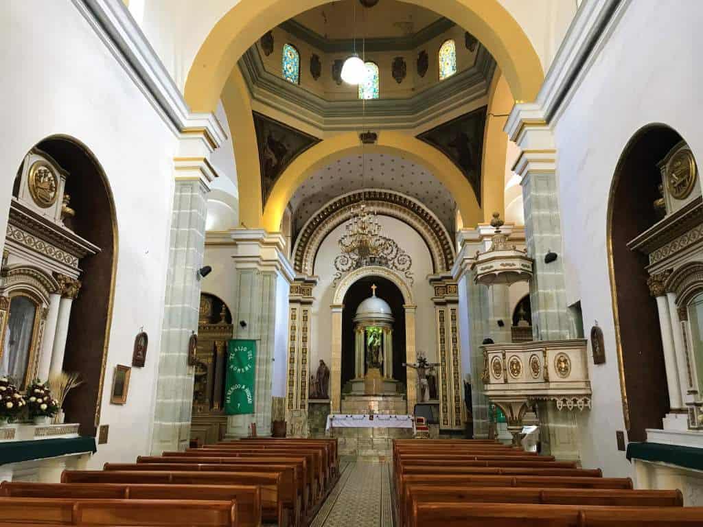 The inside of the Templo del Carmen Alto in Oaxaca.