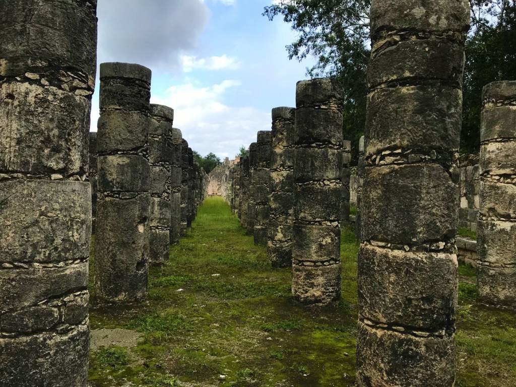 Columns at the ruins of Chichén Itzá.