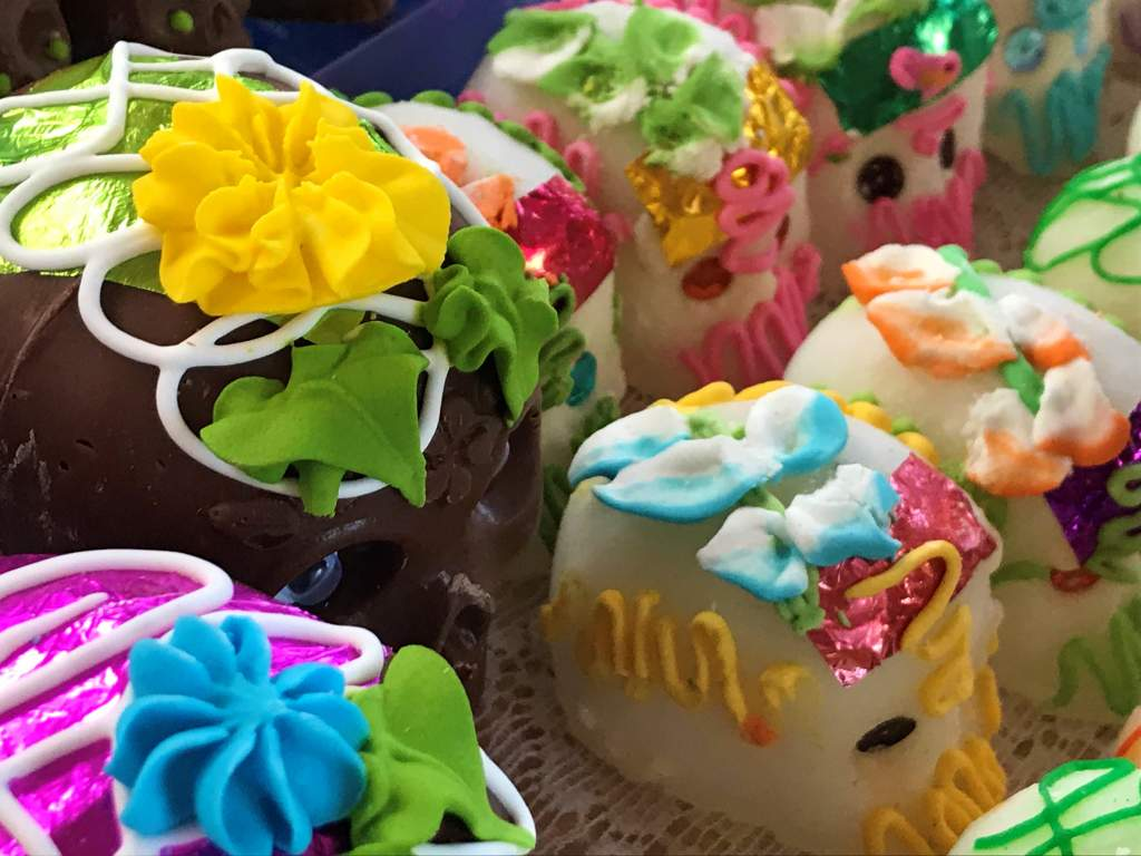 The famous decorated sugar skulls for Day of the Dead.