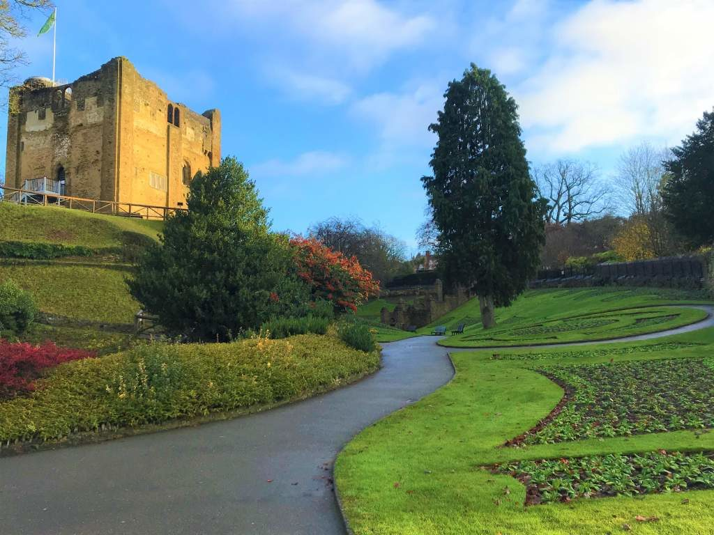 The Guildford Castle grounds.