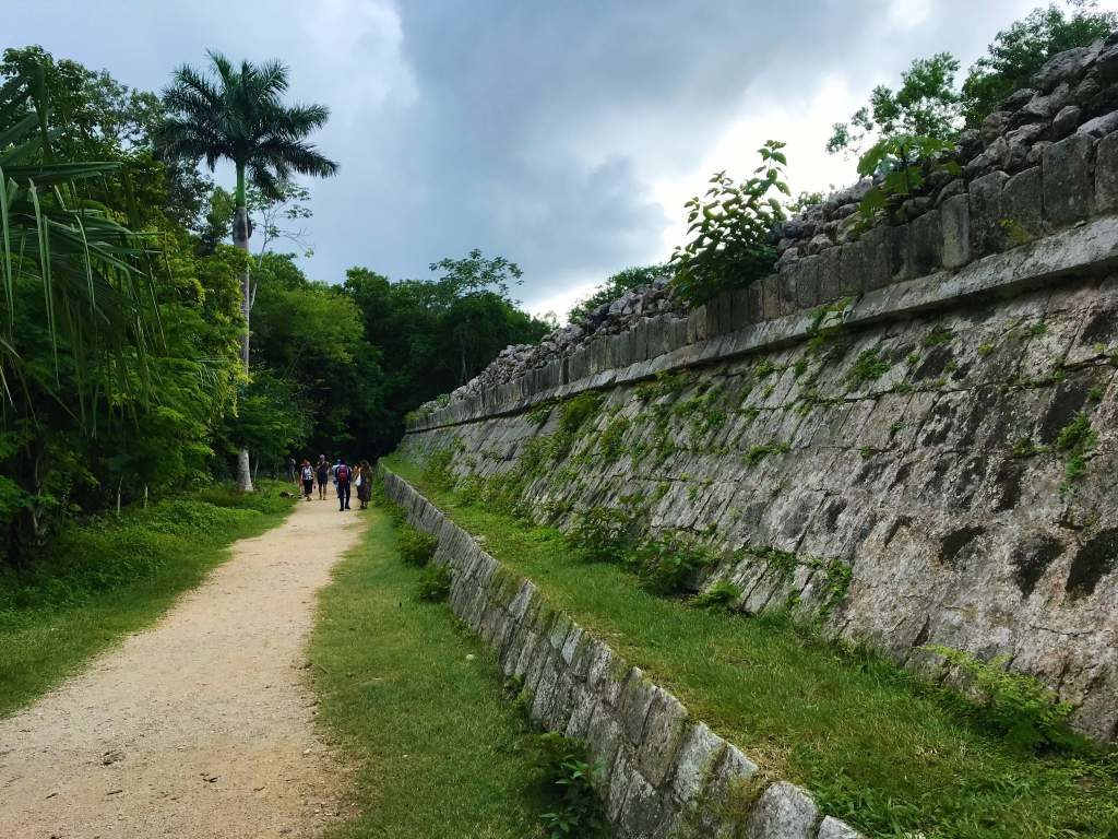 Wheelchair accessibility at Chichén Itzá is made possible by flat, dirt paths like this one.