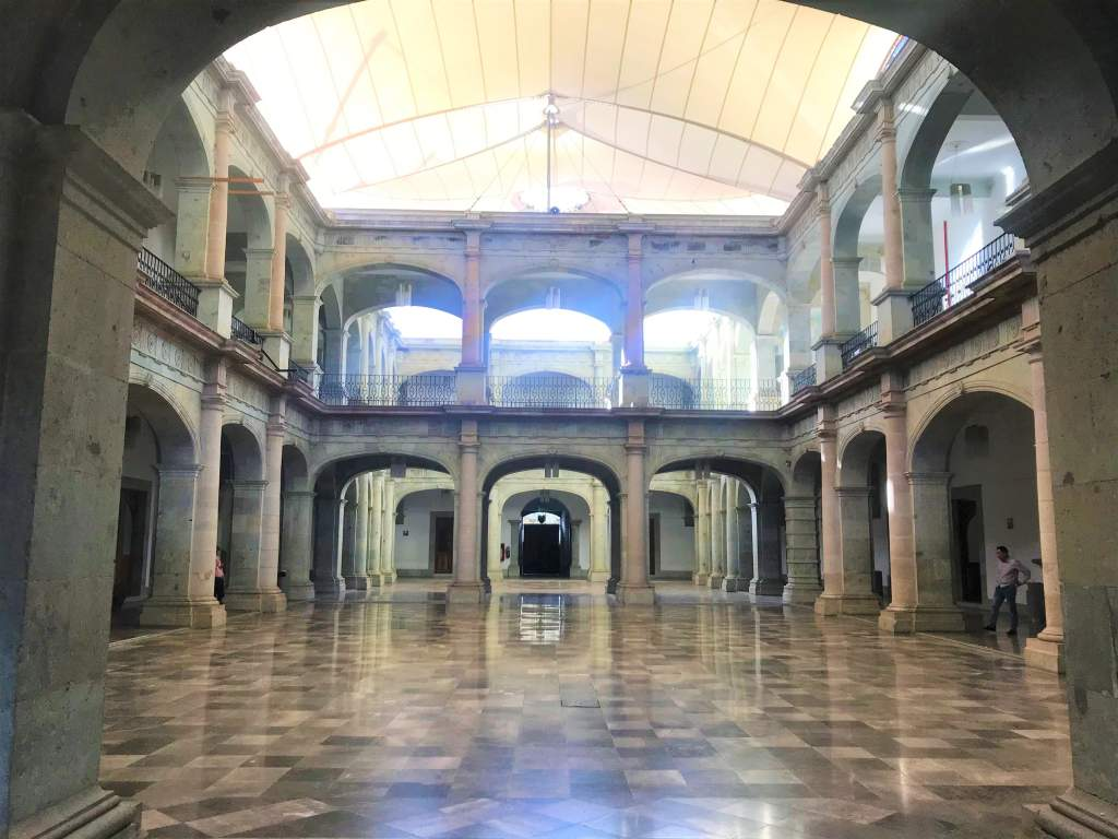 The interior of Oaxaca's Palacio de Gobierno, which is wheelchair accessible.