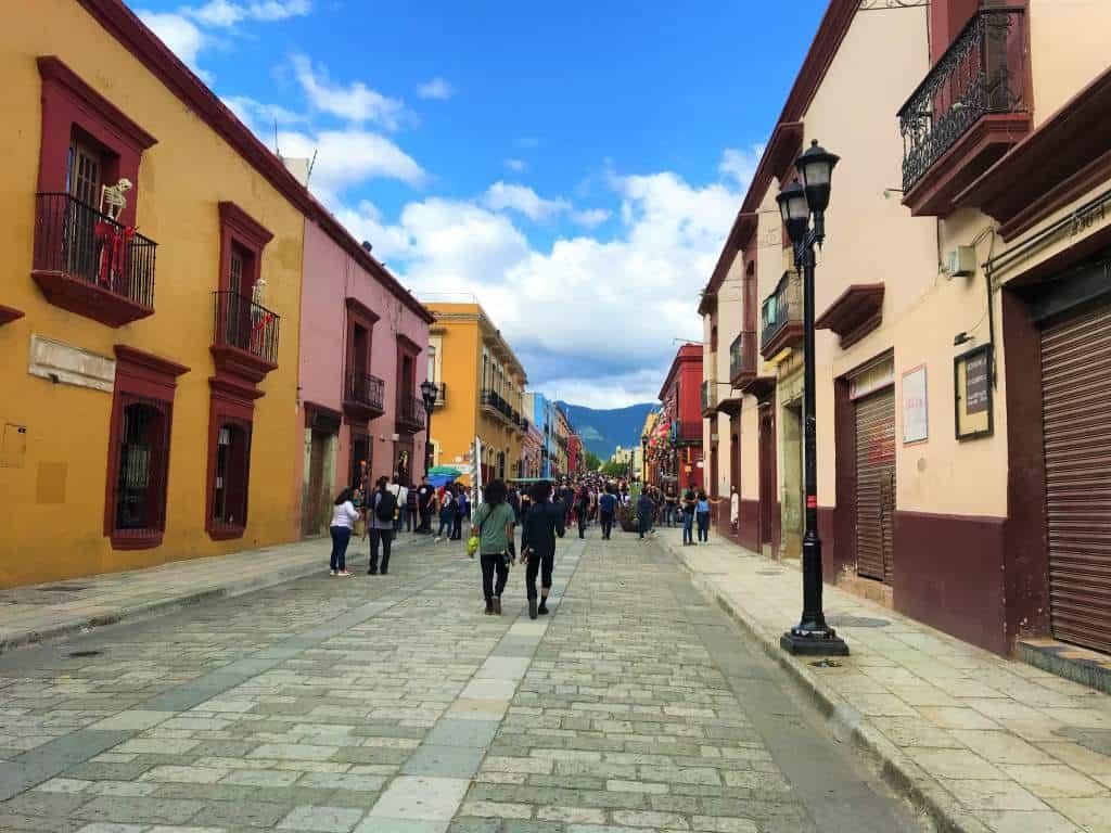 Wheelchair accessible sidewalks in Oaxaca.