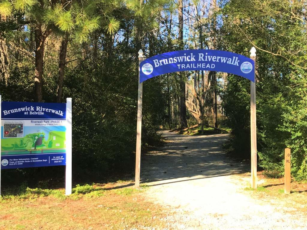 The Brunswick Riverwalk Trailhead.