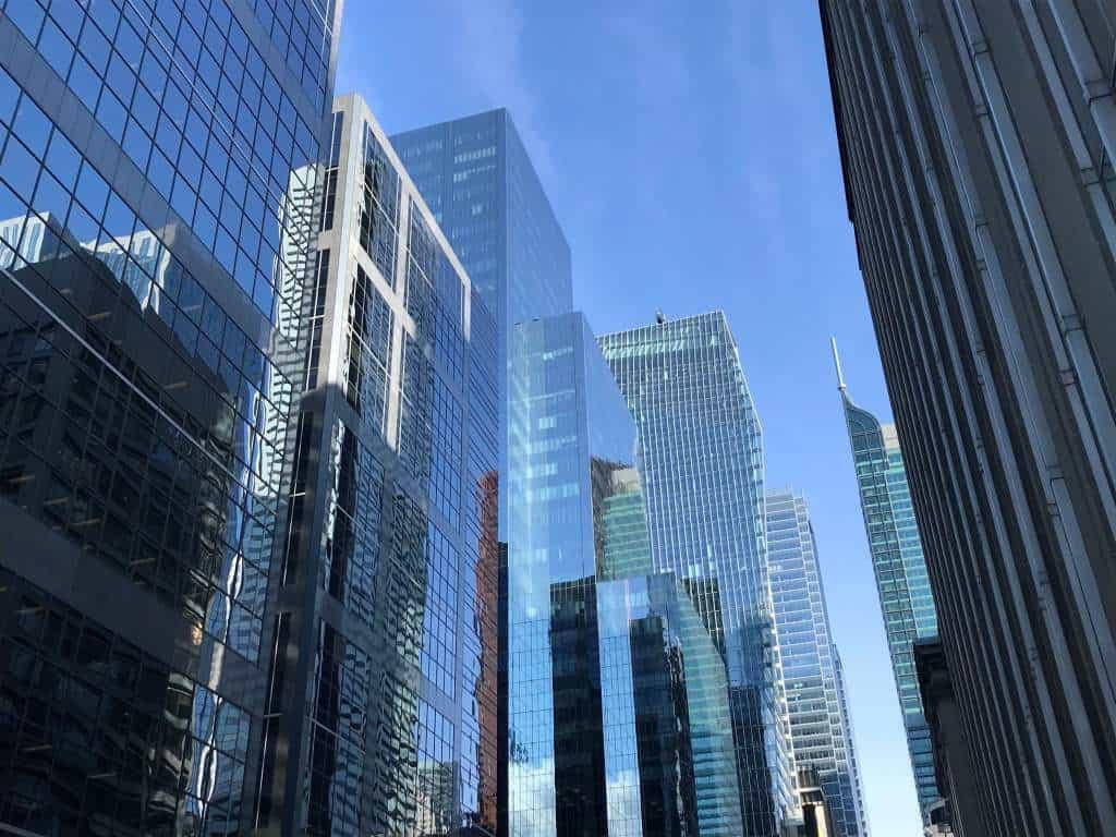 Modern skyscrapers in Toronto.