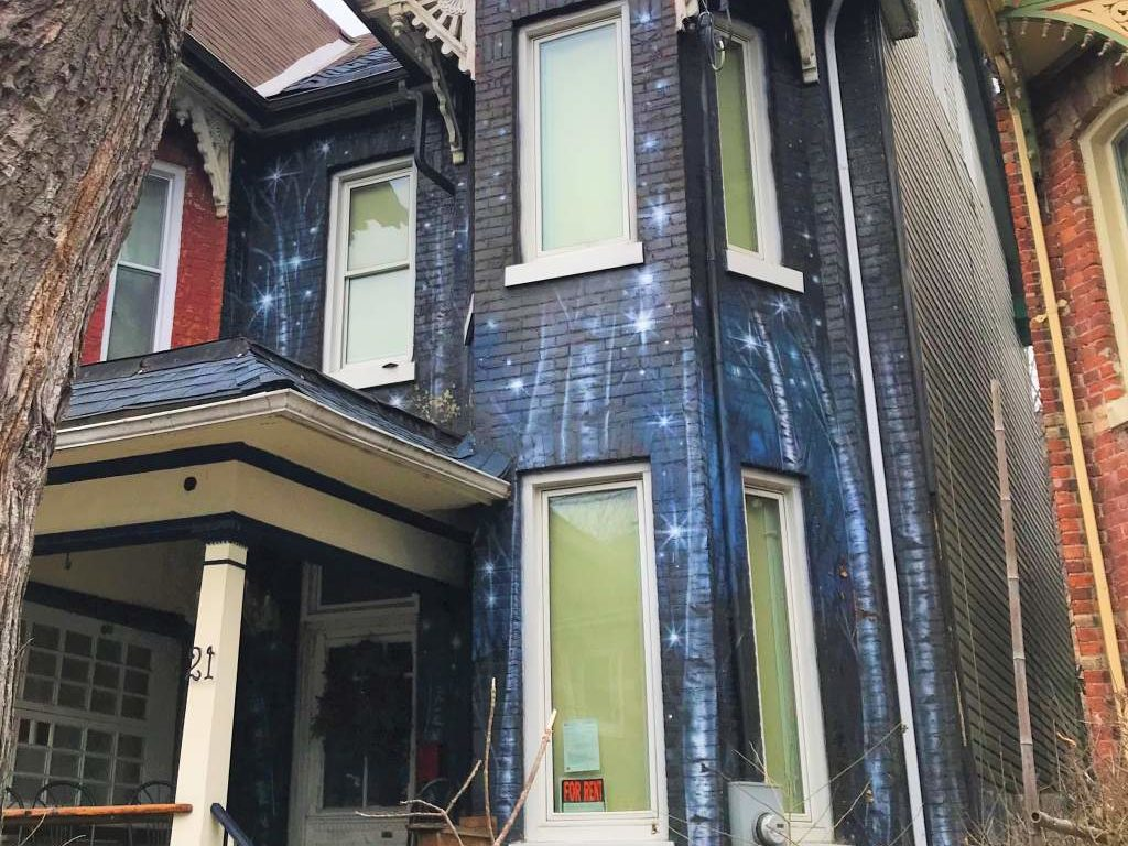 A house painted like a piece of art in Kensington Market, Toronto.
