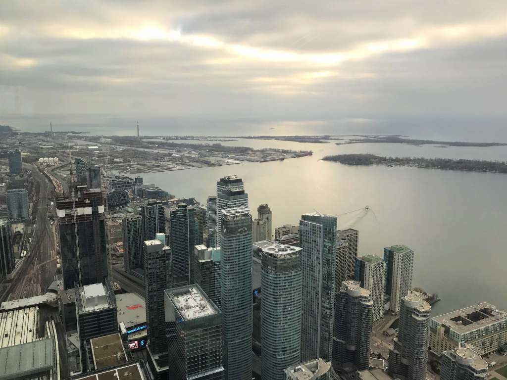 View of Lake Ontario from the CN Tower.