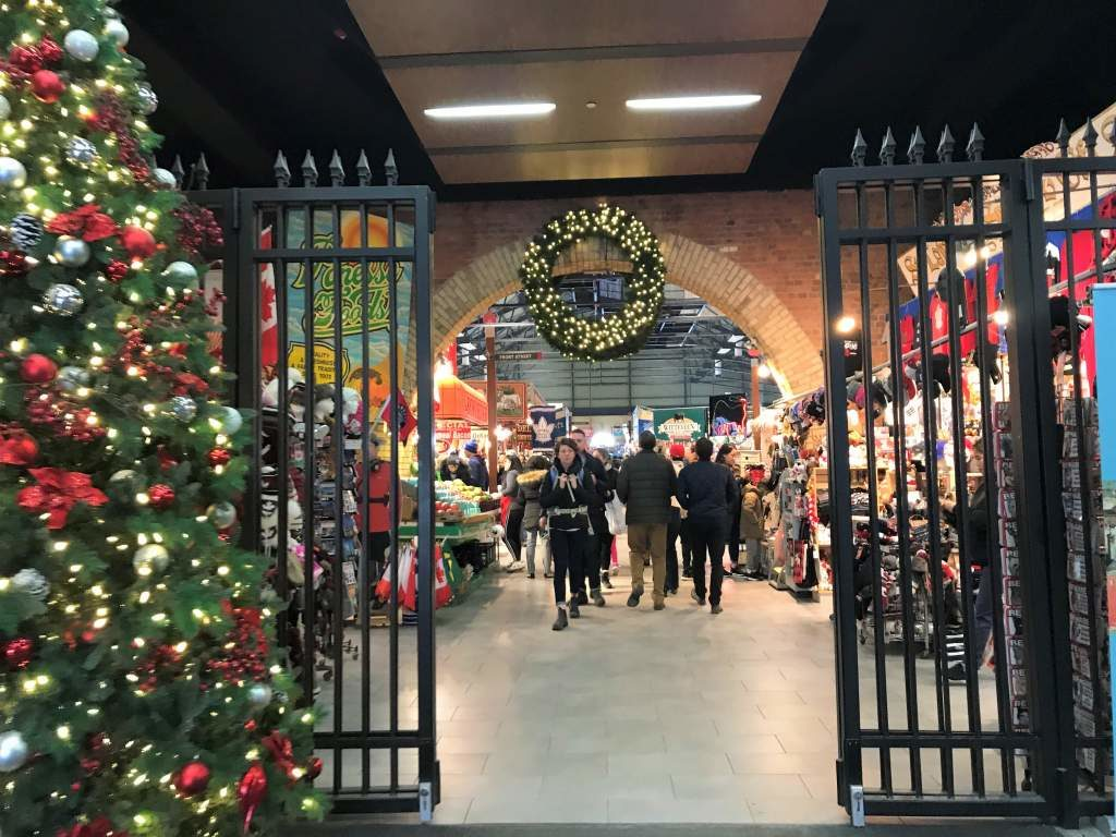 The wheelchair accessible entrance to the St. Lawrence Market in Toronto.