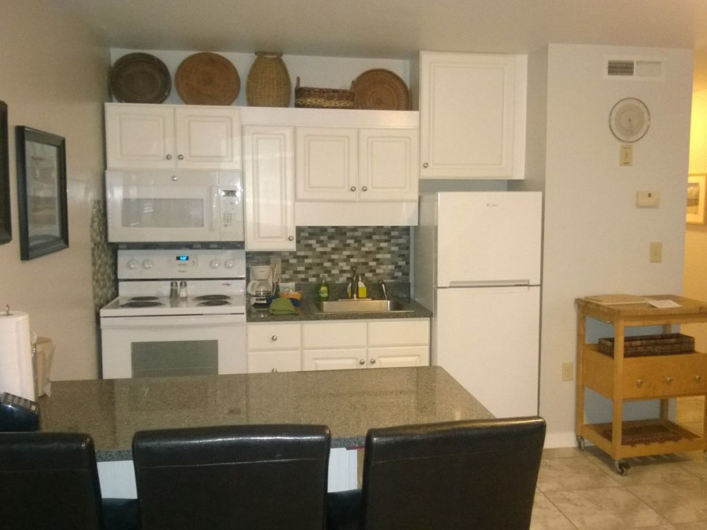 Kitchen at Sandpeddler Inn and Suites.