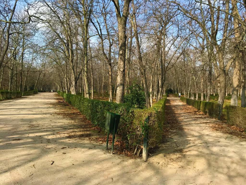 Dirt paths at Retiro Park.