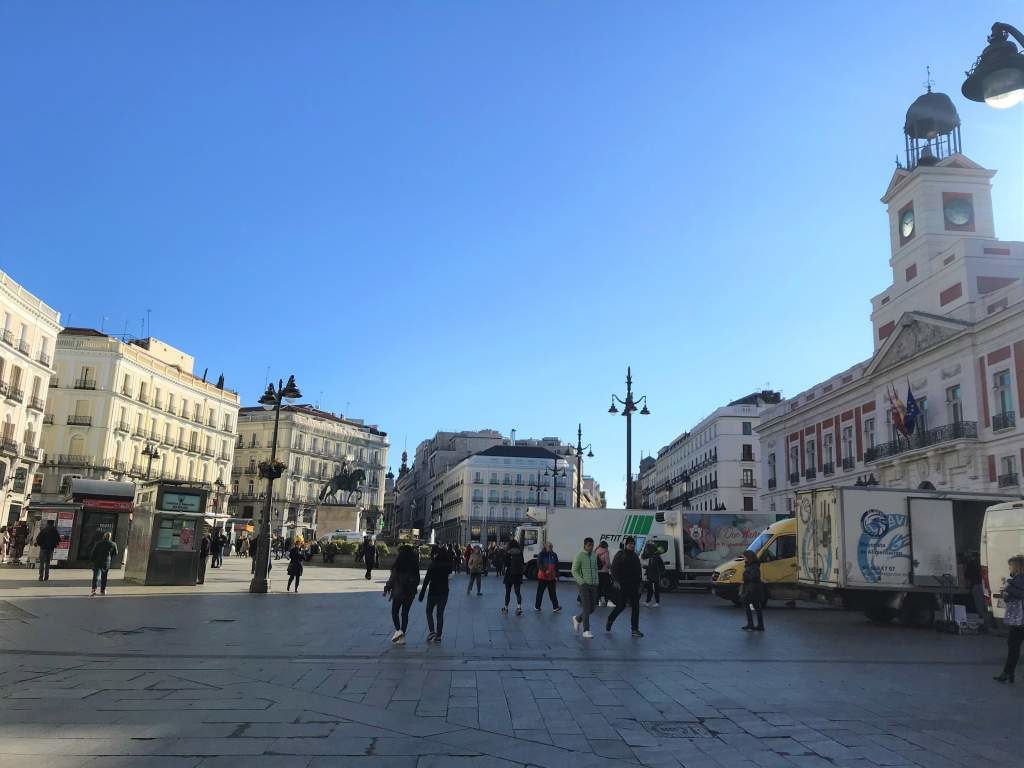 The Puerta de Sol is one of the great wheelchair accessible things to do in Madrid thanks to its flat surface.