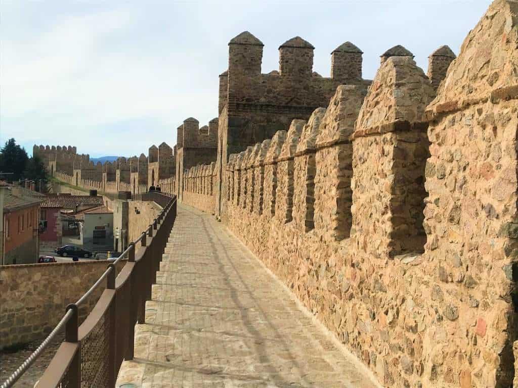 The wheelchair accessible Ávila city wall.