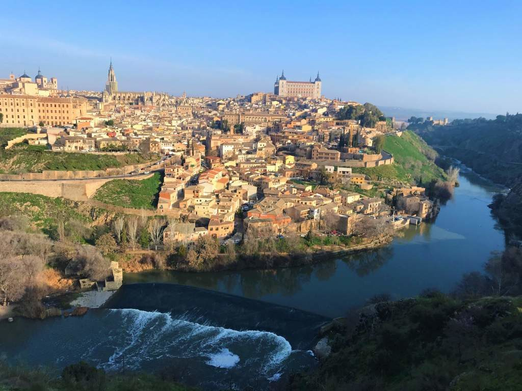 A view of the city of Toledo from a wheelchair accessible viewpoint.