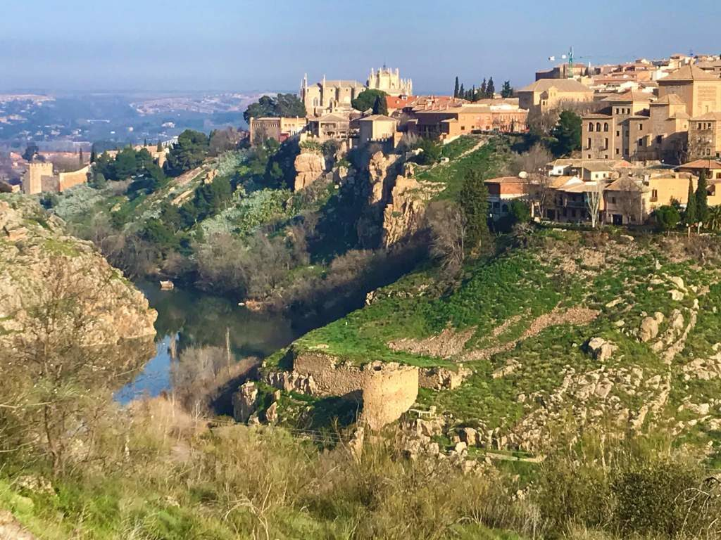 A view of the backside of Toledo from the Route of Don Quijote.