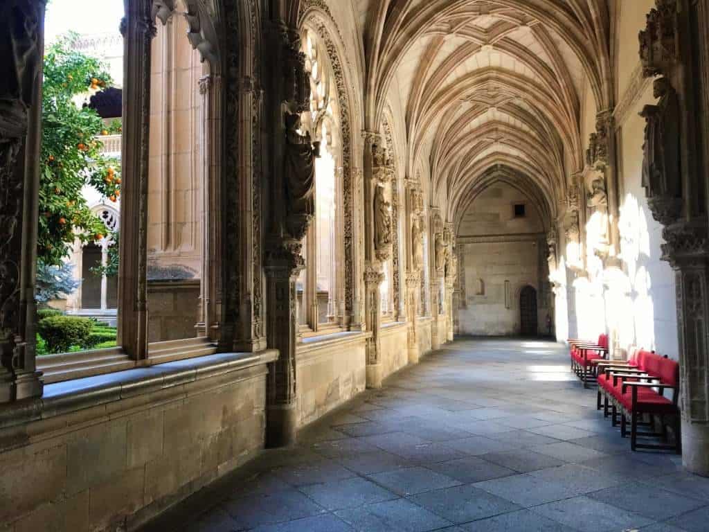 The outdoor patio at Monastery of San Juan de los Reyes.