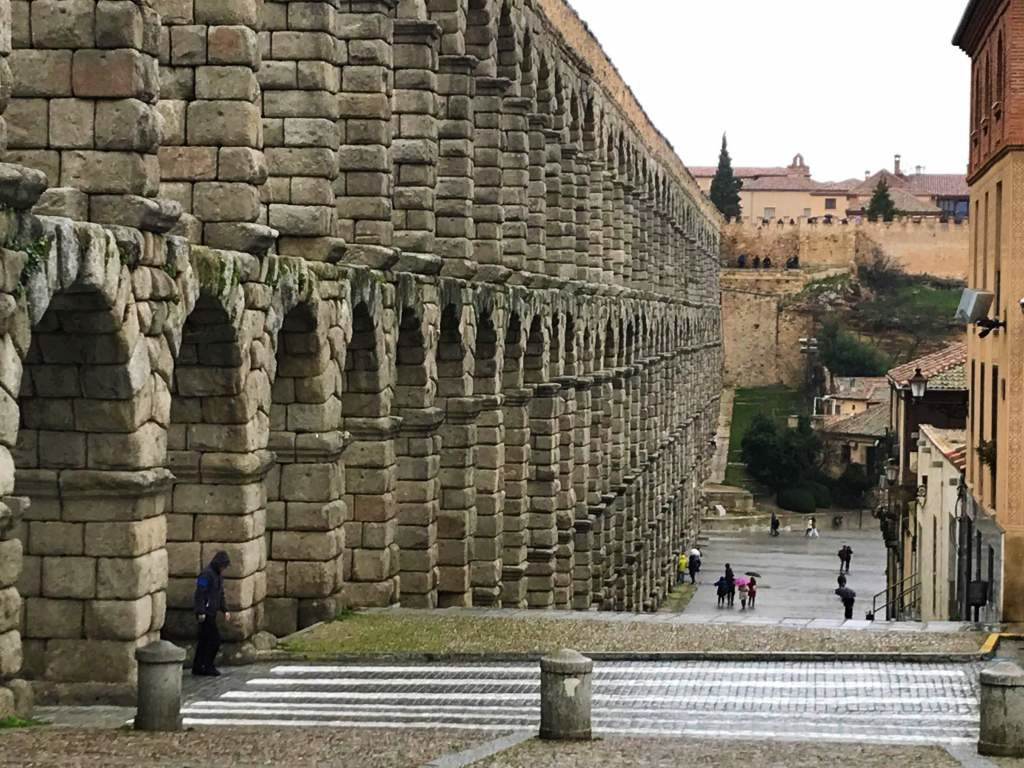 A wheelchair accessible viewpoint in Segovia, which is a great wheelchair accessible day trip from Madrid.