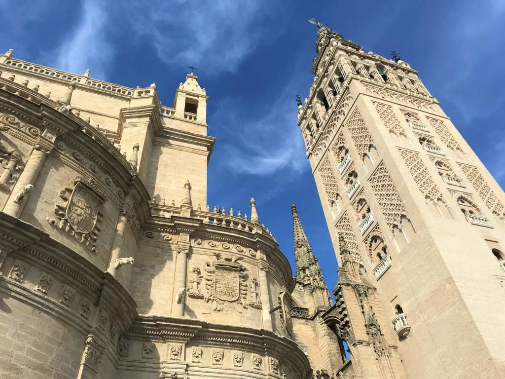 The Seville Cathedral and Giralda bell tower.