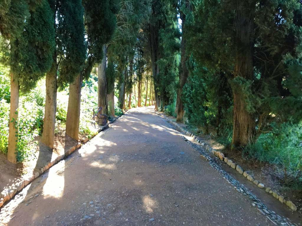 A dirt path at the Alhambra.