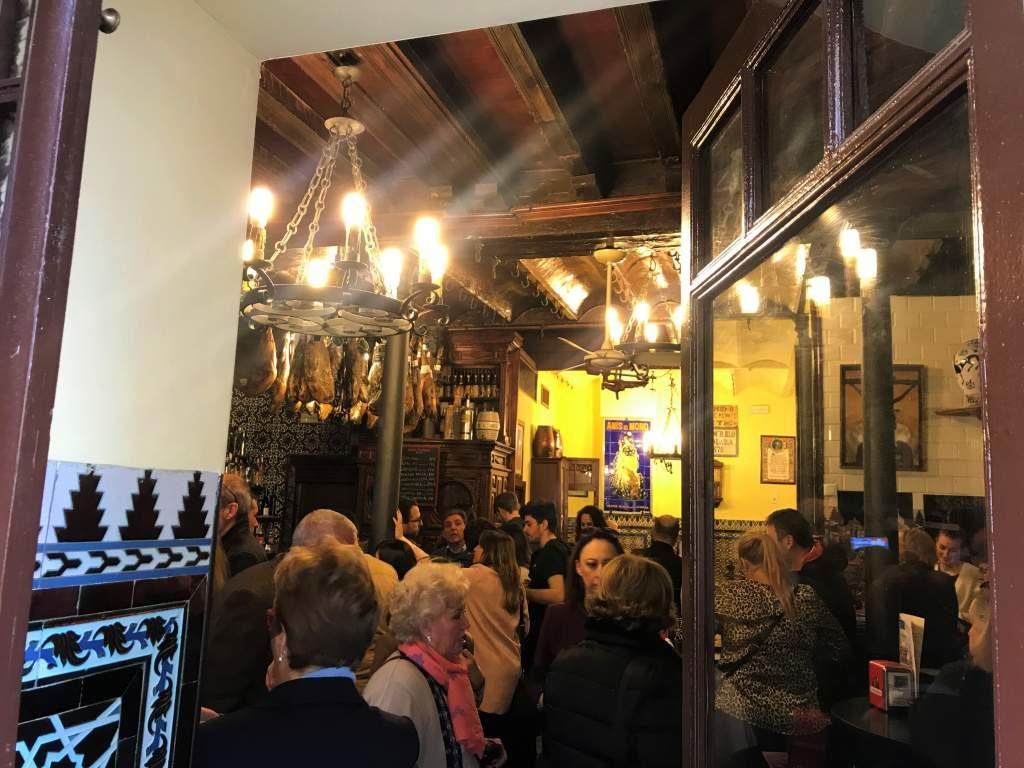 Inside the packed El Rinconcillo bar.