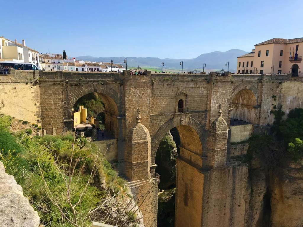 A view of Puente Nuevo, which is the main reason that people take a Seville to Ronda day trip.