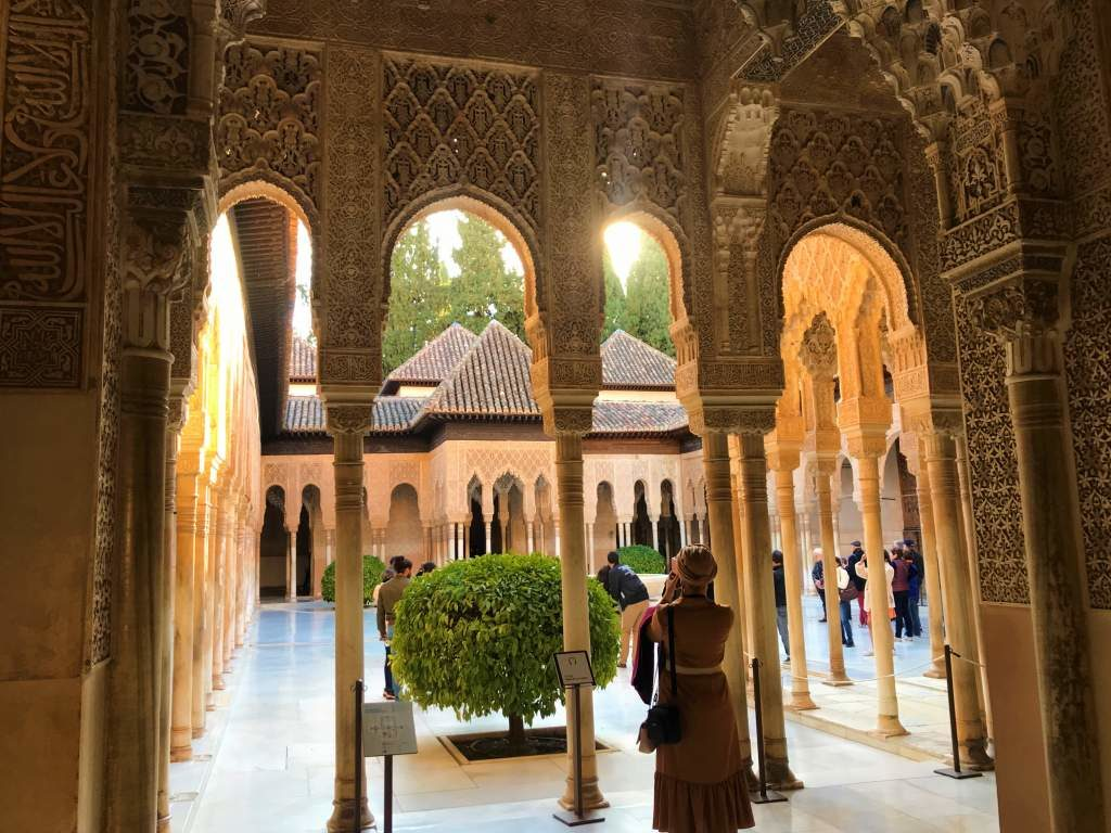 Inside the Nasrid Palaces, which is a place that you can visit only if Alhambra tickets aren't sold out.
