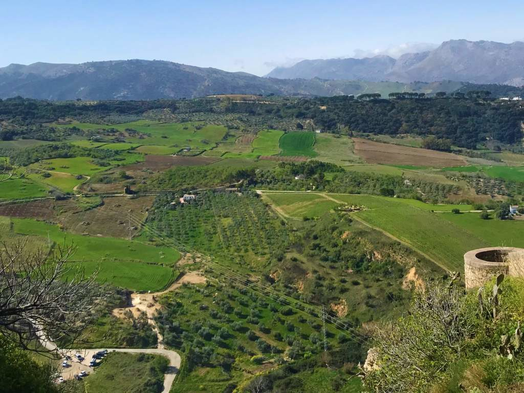 A view of the Ronda countryside from Paseo Blas Infantante.