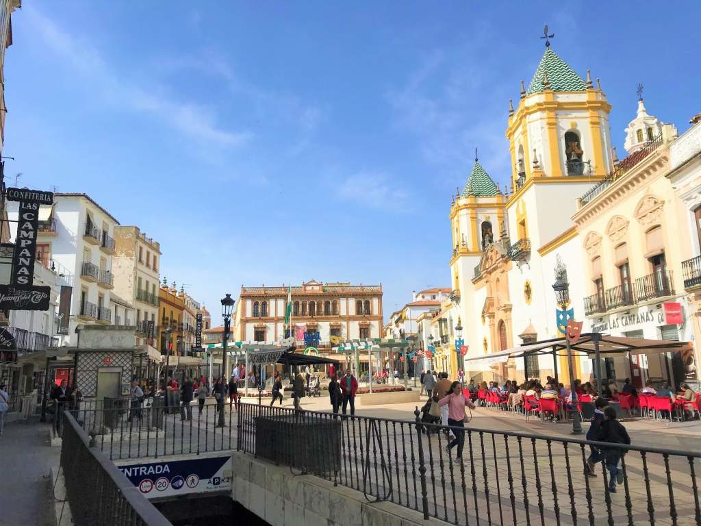 By taking a day trip from Seville to Ronda, you may park here in Plaza del Socorro.