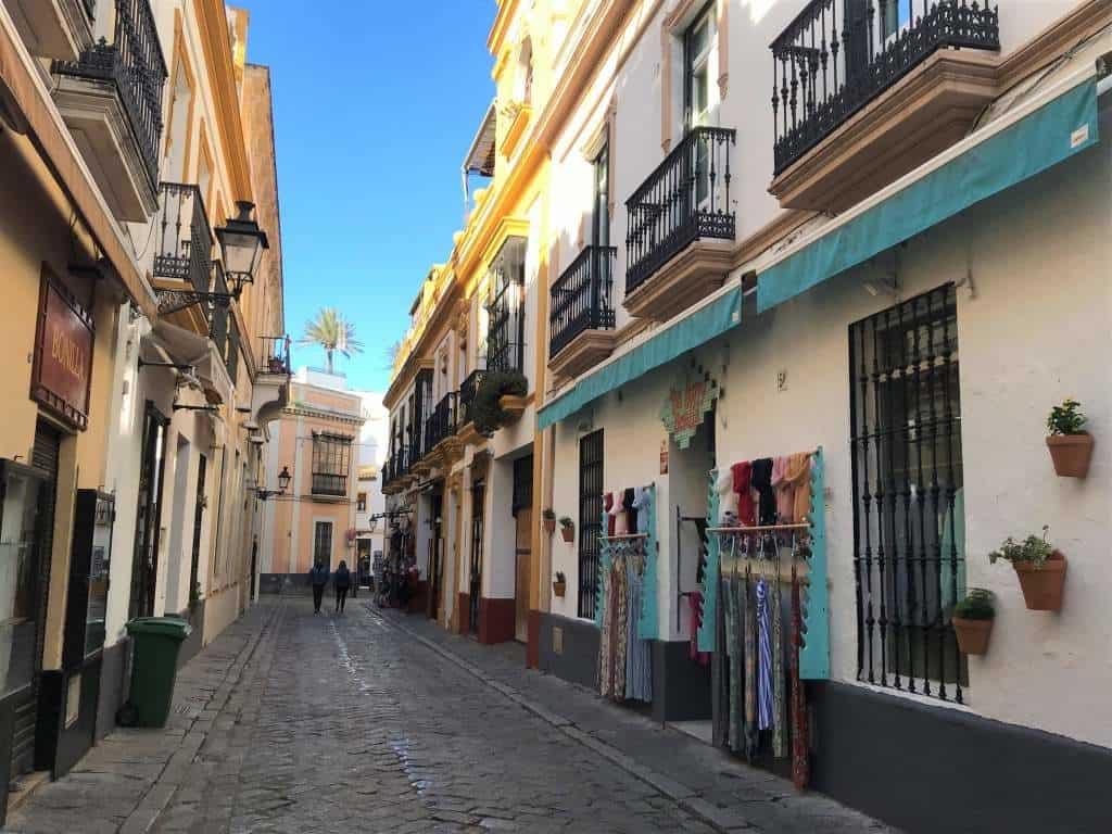 A quaint street in the Santa Cruz district.