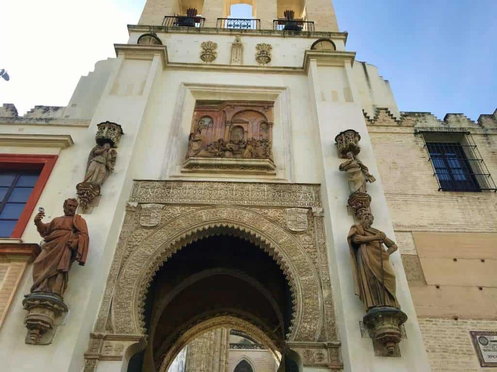 The entrance to Puerta del Perdón.