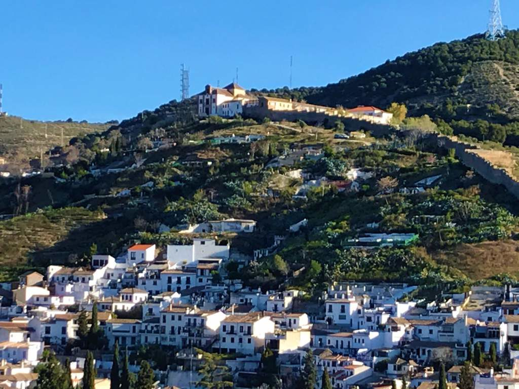 The cave houses of Sacromonte are located on the uppermost part of the hill.