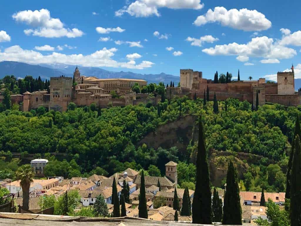 A view of the Alhambra from the Mirador de San Nicolás.