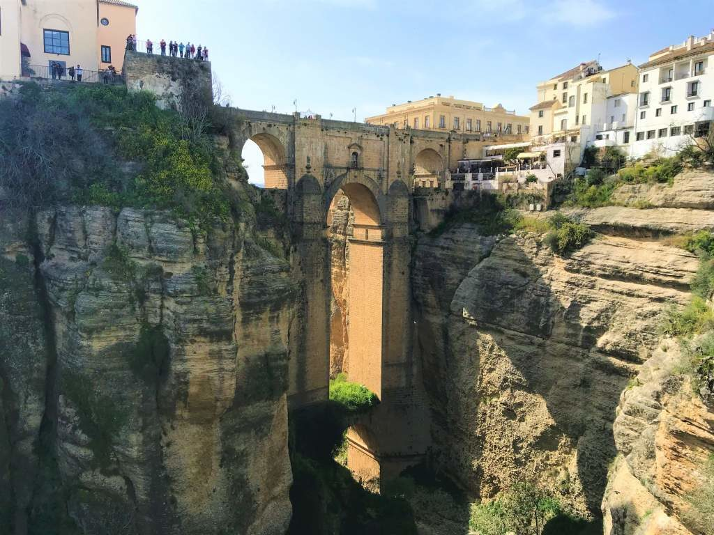 You can enjoy views like this one of the Puente Nuevo by taking a day trip from Seville to Ronda.