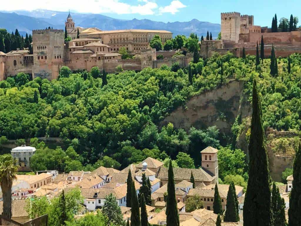 A view of the Alhambra from Mirador de San Nicolás.