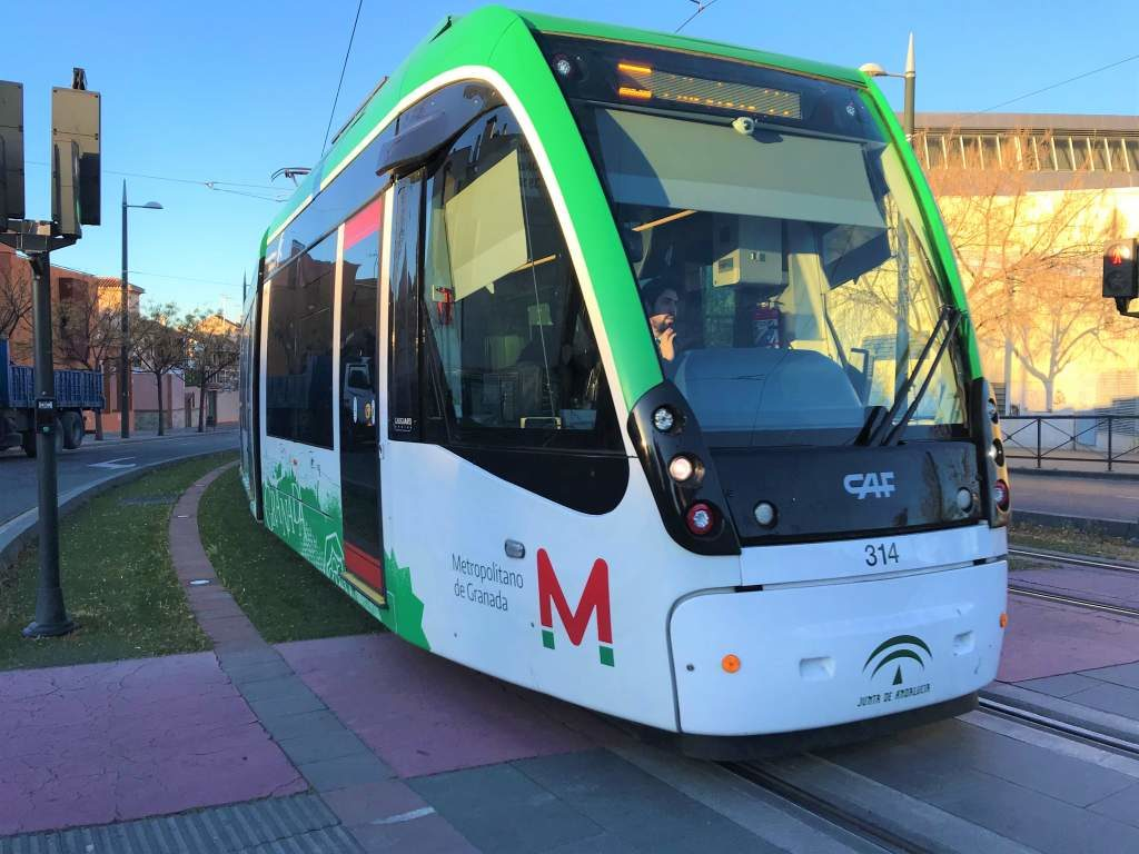 A tram in Granada.