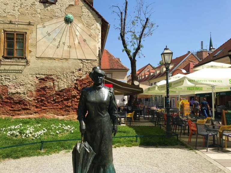 The Marija Jurić Zagorka Statue in Zagreb.