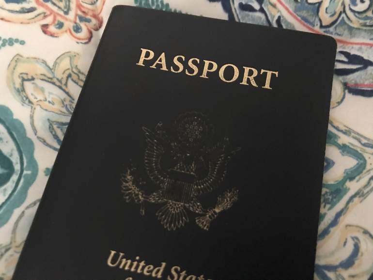 An image of a passport.
