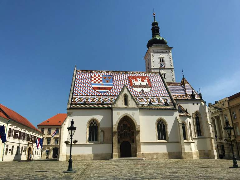 One of the best things to do in Zagreb is visiting the St. Mark's Church.