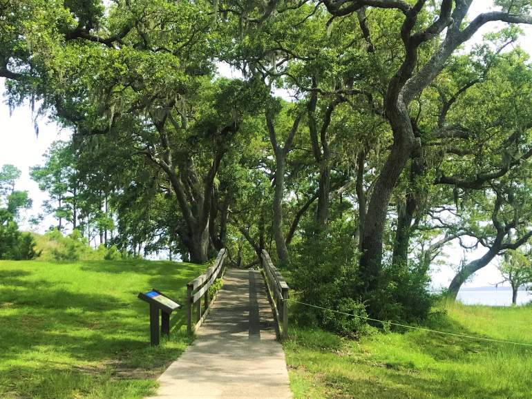 An accessible path at Fort Anderson.