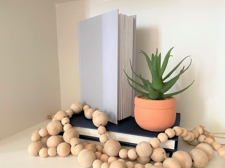Books sitting on a shelf in Panama.