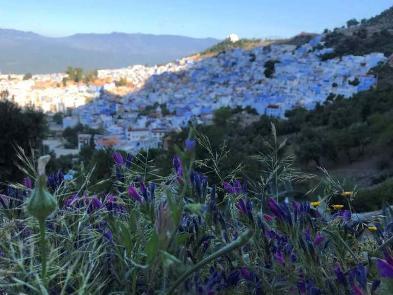Sunrise in Chefchaouen, Morocco marking the start of a new Ramadan fasting day.