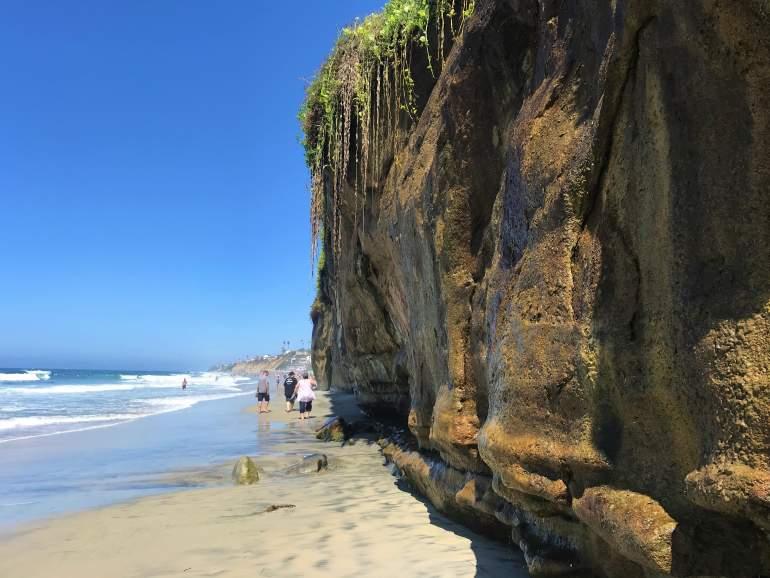 Cliffs along San Diego's coast.