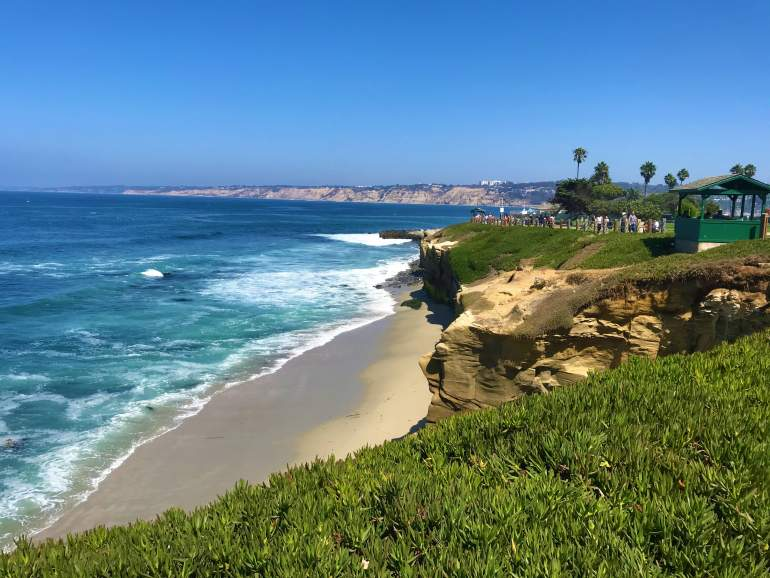 A view of San Diego's coastline from La Jolla.