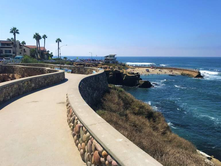 Wheelchair accessible path between Children's Pool Beach and La Jolla Cove.
