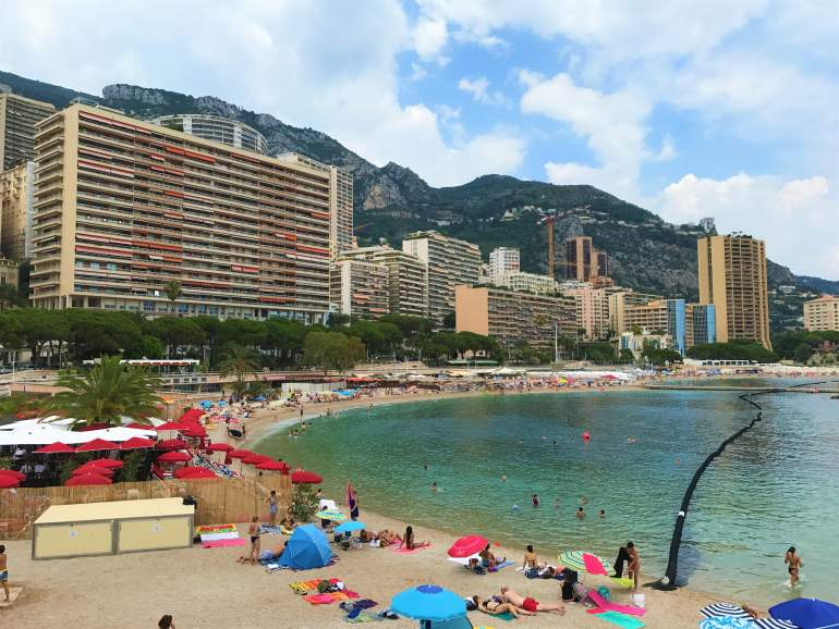 Larvotto Beach in Monaco.